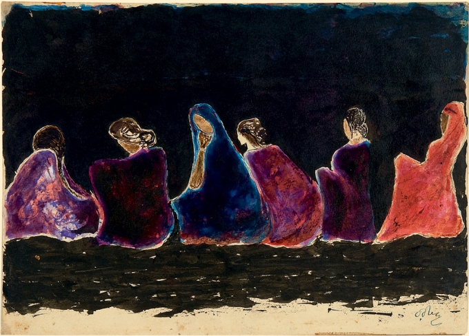 Coloured ink on paper by Rabindranath Tagore, about 1929-30, © Rabindra Bhavana