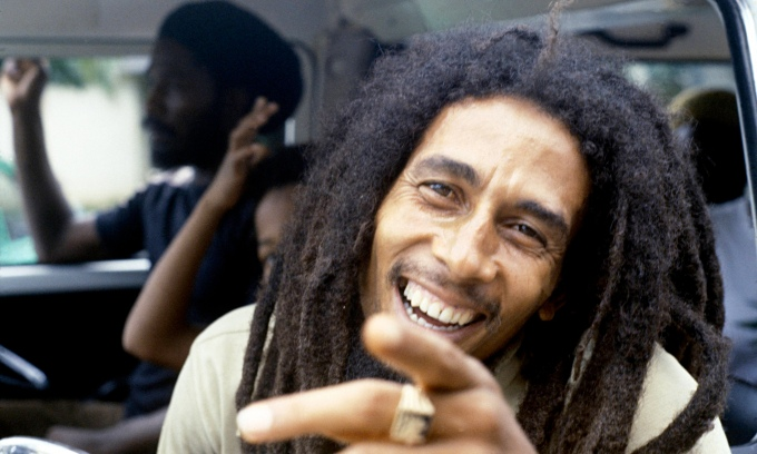 Bob Marley in 1979, before the Reggae Sunsplash concert in Montego Bay, Jamaica.